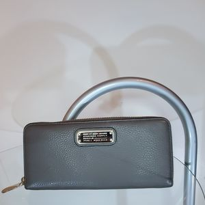 Marc by Marc Jacobs Gray Pebbled Leather Wallet